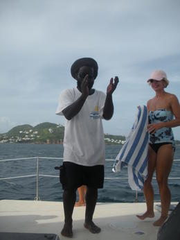 Photo of St Kitts Catamaran Party Cruise to Nevis from St Kitts Crewmember Ivan