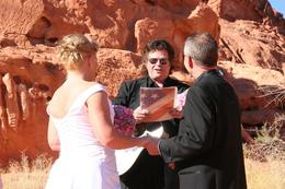 Photo of Las Vegas Valley of Fire Wedding by Private Limousine Getting Married by Johnny Cash