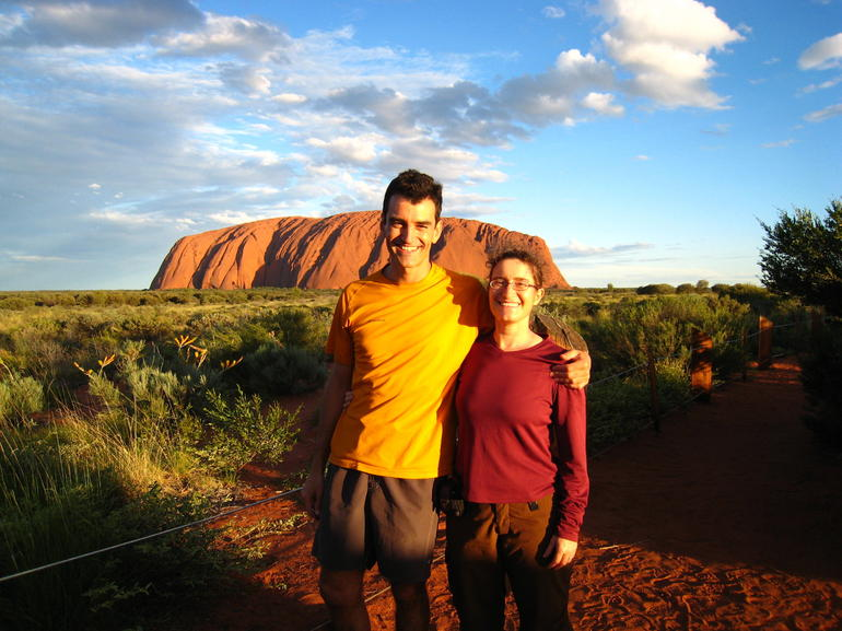 Hubby  and  I at Uluru - Ayers Rock