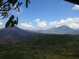 a view of Mount Batur and Lake Batur , satish chandra - November 2014