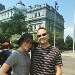 Dad and Daughter enjoying the walking tour. , Rebecca H - August 2015