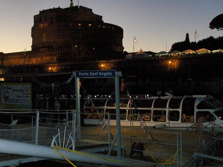 Our Boat moored ready to board - Rome