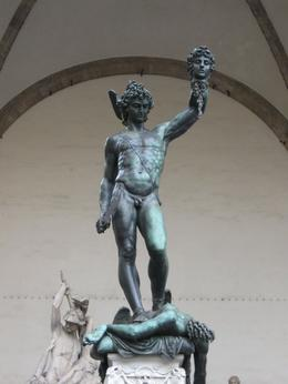 The Cellini bronze sculpture in the center of Florence, Anthony P - October 2009
