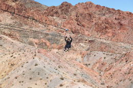 Photo of Las Vegas Bootleg Canyon Zipline Tour So small in the canyon...