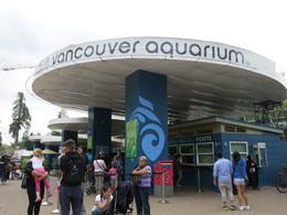 Outside the Vancouver aquarium, Patricia P - October 2014