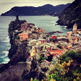Approaching Vernazza - April 2014 , Kristen L - April 2014