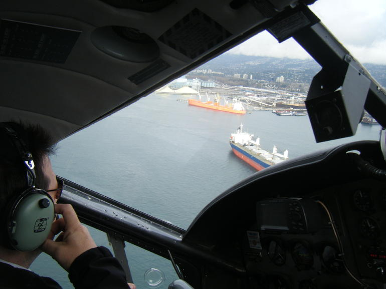 View from the cockpit - Vancouver