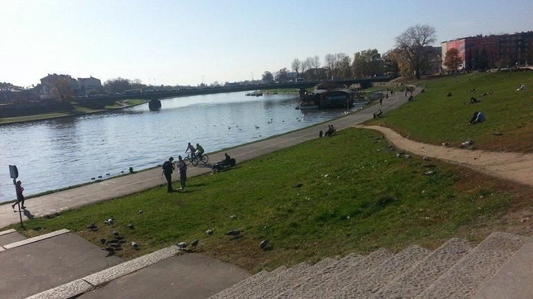 The beautiful Vistula River gives Krakovites a place for leisure and respite from the humdrum of the city