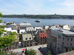 Standing above Old Quebec. Great view! , Brittany M - June 2013