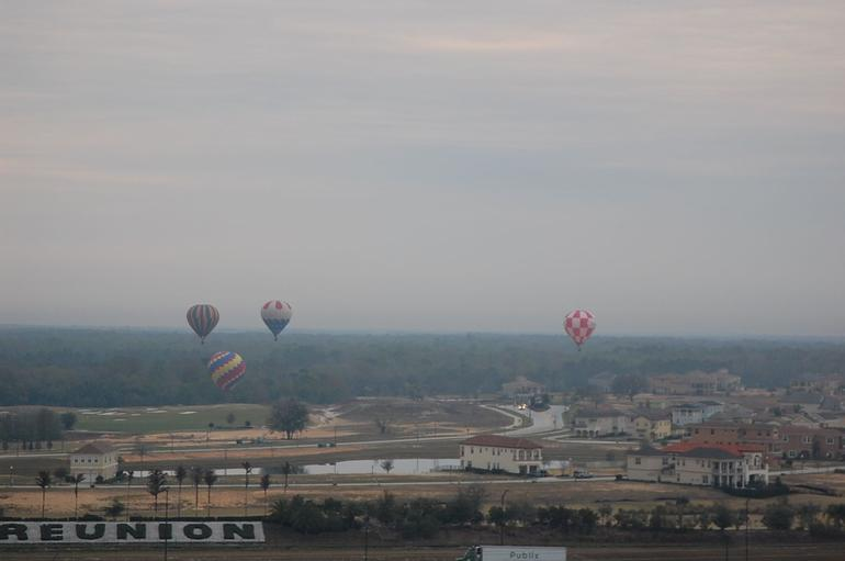 A lot of balloons flying that morning - Orlando