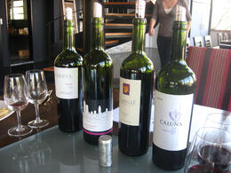 Some of the reds we tasted., Bandit - June 2012