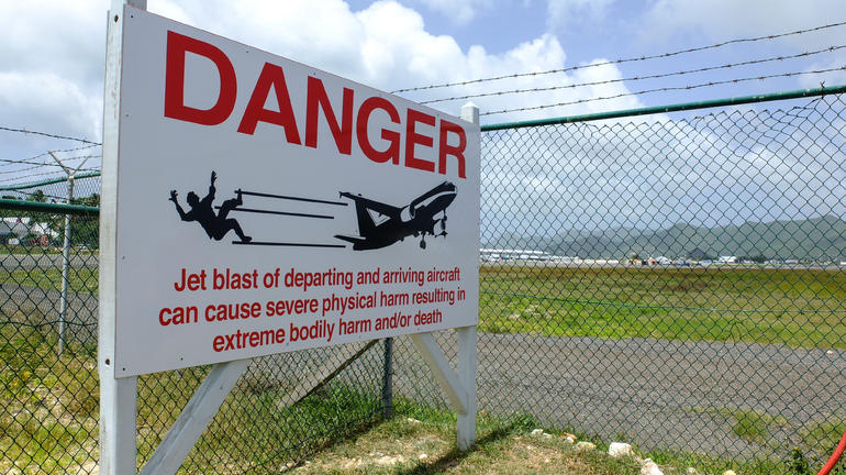 Danger Sign - St Maarten