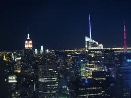 Wow!! What a view from 67th floor of Top of the Rock on a very clear and of course windy (being so high up) night - The Empire State looks so imposing!! , Geraldine H - May 2012