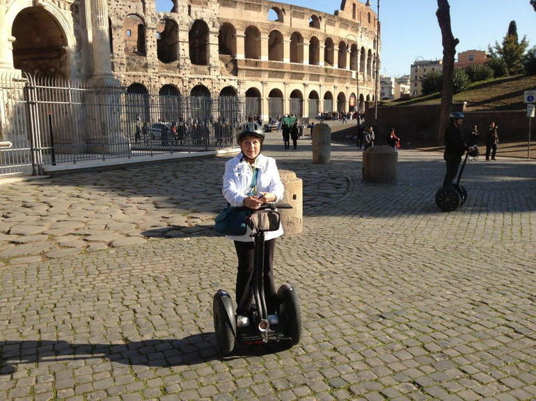 Gail on Segway - Rome