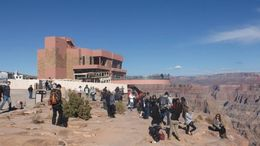 The view of the beautiful canyon and skywalk, Barbara - November 2014