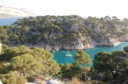 View from the top of a small peak, Les Calanques - March 2010