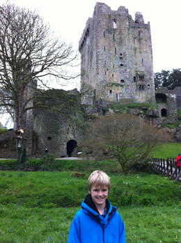 Connor beaming with eloquence after touring the castle and kissing the Blarney Stone! , AMY W - April 2012