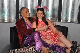 Lazing with Hugh Heffner , Emma C - April 2013