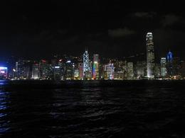 hong kong city lights from the boat, Aviad R - October 2010