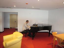 This is a dressing room that we got to tour and it had a grand piano., Jodie A - October 2007