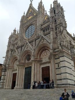 Cathedral in Siena is beautiful inside and out , Kelley W - April 2016
