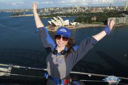 Me on top of Sydney Harbour Bridge with the Opera House in the background :-) , Charlotte C - May 2014
