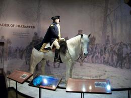 Photo of Washington DC Independent Half-Day Trip to Mount Vernon and Old Town Alexandria from Washington DC Wax figure of Washington 'on a slapping stallion'