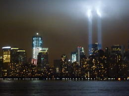 9/11 tower lights on 10th anniversary very moving , sparky - October 2011