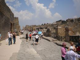 Photo of Naples Mt Vesuvius and Pompeii Day Trip from Naples A main street in Pompeii