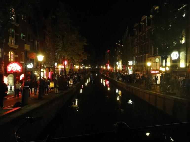 Canal in Red Light District - Amsterdam