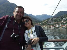 Photo of Milan Lake Como Day Trip from Milan En el barco en lago de Como