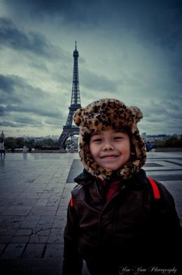 our lil tyke upclose and personal with Eiffel T. , haruko - May 2012