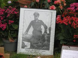 At the German cemetery, the grave site of Michael Wittman, tank commander who was responsible for destruction of over 130 tanks., Martin F. O - September 2008