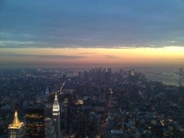 Photo of New York City NY SKYRIDE and Empire State Building Observatory Just after sunset as the city lights up
