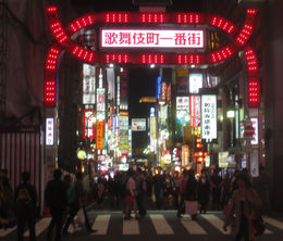The arch marking the entrance to Kabukicho, , Bill604 - November 2015