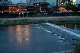 Kamo River at night looks great with light-up restaurants reflected in the river. , Kyoto Expert: Satoko - May 2011