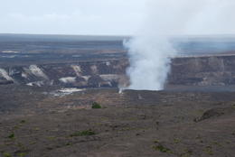 Kilauea with active volcano forming another crater within the larger one. , Margaret - May 2011