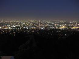 Photo of Los Angeles Hollywood Hills Hiking Tour in Los Angeles LA at night