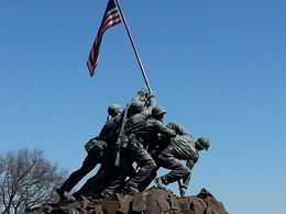 As background, you may want to read Flag of My Fathers. It will explain in detail who the Marines are in this Memorial. , Rich - May 2015