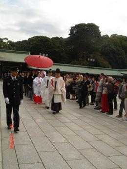 This was a traditional wedding happening at the shrine that day., Elizabeth J - October 2008