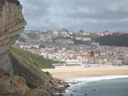 Nazare seen from nearby point of land , snowguys - April 2014