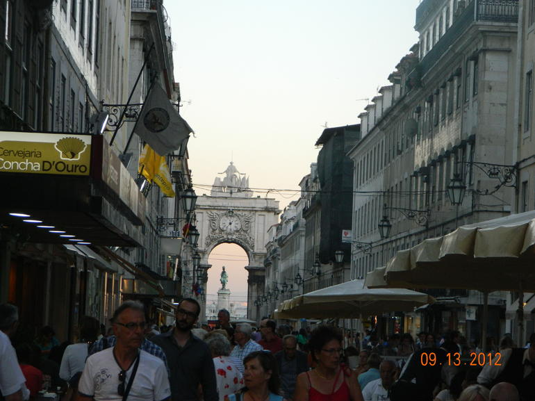 Rua Augusta and the Triumphal Arc - Lisbon