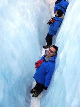 Photo of Franz Josef & Fox Glacier Small-Group Franz Josef Glacier Walk skimming through the cracks