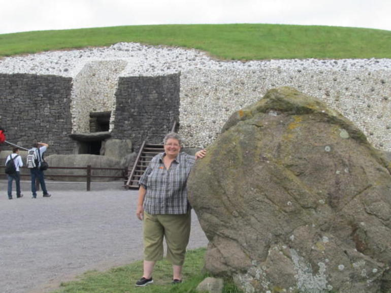 Standing Stone outside the entrance to Newgrange - Dublin