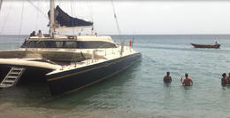 Photo of St Kitts Catamaran Party Cruise to Nevis from St Kitts Staying cool in the warm waters of Nevis