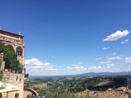 We walked up to a beautiful scenic point in San Gimignano and still had time to do lots of shopping! , Blain V - July 2015