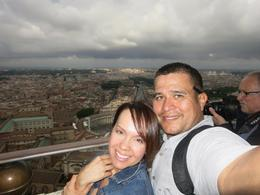 This photo was taken from the dome of the Basilica at the Vatican. Was an amazing day and even more amazing experience. We love Rome! , Jennifer B - June 2013
