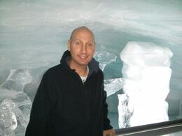 Here I am inside the ice house at the top of the mountain! What an experience! , RIchard - September 2013