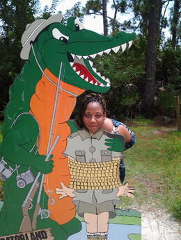 Photo of   cut out at gatorland.