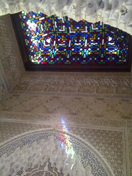 Detail of the lighting in the construction at the Alhambra , ERK - May 2014
